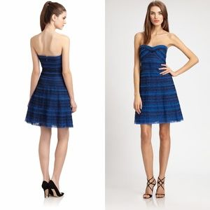 BCBGMAXAZRIA Valentine Blue Tulle Party Dress